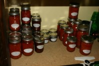 A weekend of canning