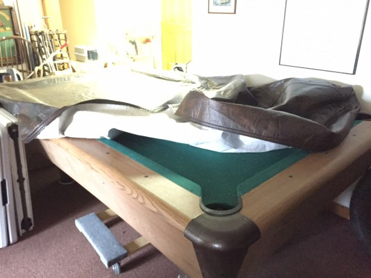 Harvard Pool Table with ping pong table cover: $500